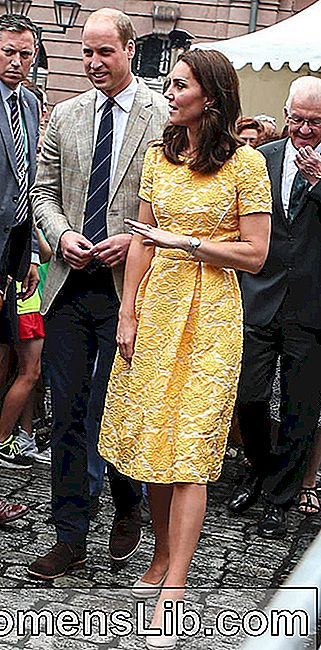 Kate Middleton en vestido amarillo Jenny Packham