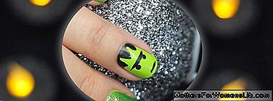 Halloween nail art video tutorial: čarodějnice a Frankenstein nehty