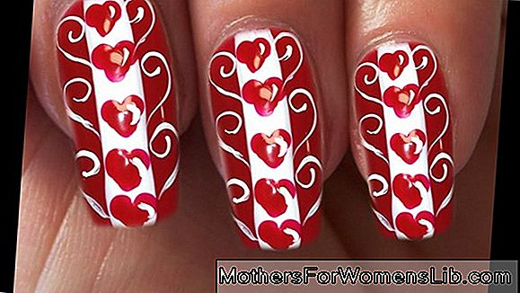 Video tutorial nail art valentine