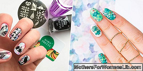 Tendances printemps 2019: nail art floral