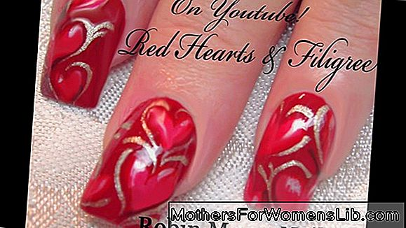 Video vadba nail art Valentine